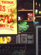 News Stand Prints - Guiness in the Window Print by Miriam Danar
