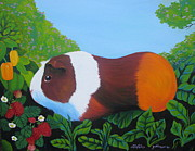 Pig Prints Paintings - GuinGuin by Sherri Carroll