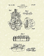 Gift Drawings Framed Prints - Guitar 1929 Patent Art Framed Print by Prior Art Design