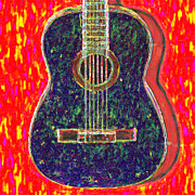 Pop Music Prints - Guitar - 20130123v1 Print by Wingsdomain Art and Photography