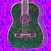 Pop Music Prints - Guitar - 20130123v2 Print by Wingsdomain Art and Photography