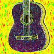 Pop Music Prints - Guitar - 20130123v3 Print by Wingsdomain Art and Photography