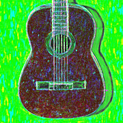 Pop Music Framed Prints - Guitar - 20130123v4 Framed Print by Wingsdomain Art and Photography