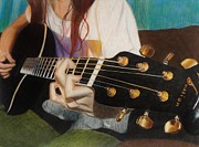 Guitar Drawings - Guitar Drawing by Savanna Paine