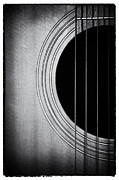 Strings Digital Art Posters - Guitar Film Noir Poster by Natalie Kinnear