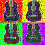 Rock Star Art Art - Guitar Four 20130123v1 by Wingsdomain Art and Photography