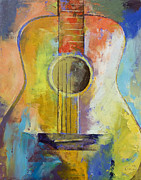 Cubist Posters - Guitar Melodies Poster by Michael Creese