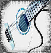 Nina Bradica Metal Prints - Guitar Metal Print by Nina Bradica