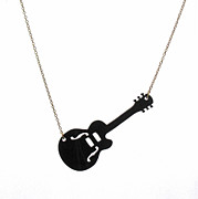 Perspex Necklace Jewelry - Guitar Pendant Necklace by Rony Bank
