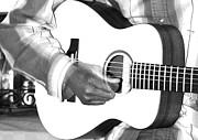 Guitar Player Print by Aidan Moran