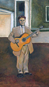 Guitar Painting Originals - Guitar Player by Yukio Iraha