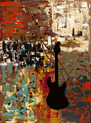 Guitar Metal Prints - Guitar Quest Metal Print by Carmen Guedez