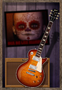 Clapton Digital Art - Guitar Scene by WB Johnston