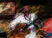 Live Music Digital Art Posters - Guitar Singer Poster by Gary De Capua