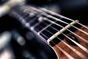 Western Abstract Prints - Guitar Strings Print by Stylianos Kleanthous