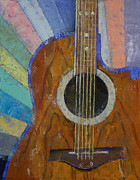 70s Paintings - Guitar Sunshine by Michael Creese