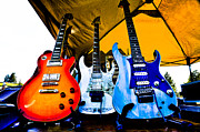 Rock Groups Metal Prints - Guitar Trio Metal Print by David Patterson