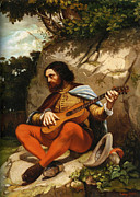 Guitar Player Posters - Guitarrero Poster by Gustave  Courbet