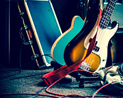 Live Music Prints - Guitars at Rest Print by Sonja Quintero