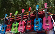Rainbow Colors Prints - Guitars in Old Town San Diego Print by Anna Lisa Yoder