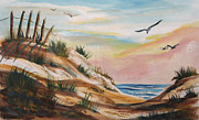 Sand Dunes Paintings - Gulf Dunes by Jacqueline Juge