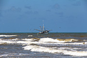 Trawler Metal Prints - Gulf Shrimping Metal Print by Nancy Sullins