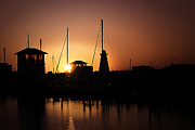 Seafarer Framed Prints - Gulfport Harbor Framed Print by Barry Jones
