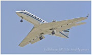 Jet Poster Digital Art - Gulfstream G450 by aGeekonaBike