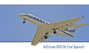 Jet Poster Digital Art - Gulfstream G450 - Final Approach by aGeekonaBike