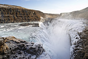 Tourism Pastels Prints - Gullfoss Iceland Print by Francesco Emanuele Carucci