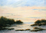 Cape Cod Paintings - Gulls Gathering by Vikki Bouffard