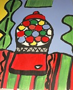 Gumball Machine  Print by Valerie  Colston