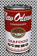 Louisiana Seafood Art - Gumbo Can by Gratia  Siegel