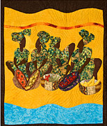 Black Art Tapestries - Textiles Prints - Gumbo Ladies Print by Aisha Lumumba