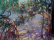 Gumbo Paintings - Gumbo Limbo Shadows by Patricia Maguire