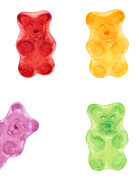 Sour Metal Prints - Gummy Bears Metal Print by Nathalie Amber