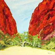 Simpsons Paintings - Gums at Simpsons Gap by Scott Jackson