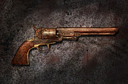 Rusted Posters - Gun - Colt Model 1851 - 36 Caliber Revolver Poster by Mike Savad