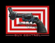 Gun Barrel Metal Prints - Gun Control Metal Print by Mike McGlothlen