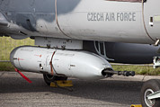 Hradec Prints - Gun Pod On A Czech Air Force Aero L-159 Print by Timm Ziegenthaler