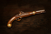 Pistol Photo Posters - Gun - US Pistol Model 1842 Poster by Mike Savad