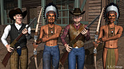 Gunfight Digital Art - Gunfight at the Okey Dokey Corral by Robert Crepeau