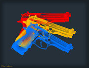 Guns Digital Art Framed Prints - Guns Framed Print by Mark Ashkenazi
