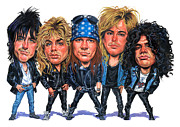 Guns And Roses Prints - Guns N Roses Print by Art
