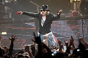 Axl Rose Metal Prints - Guns N Roses Metal Print by Front Row  Photographs