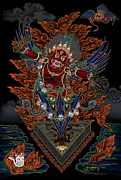 Tibet Mixed Media Prints - Guru Dragphur Print by Chris  Banigan