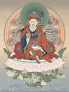 Tibet Mixed Media Prints - Guru Rinpoche Print by Chris  Banigan