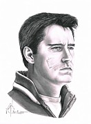 Sports Drawing Drawings - Guy Boucher by Murphy Elliott