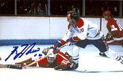 Signed Poster Art - Guy Lafleur Signed Poster by Sanely Great