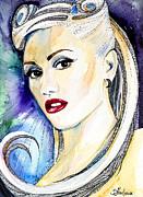 Gwen Stefani Print by Lyubomir Kanelov